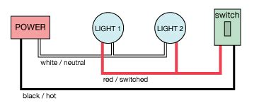 electrical how do i wire two lights with a switch home improvement stack exchange
