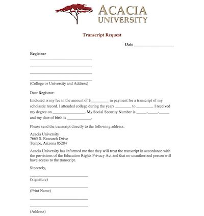 application letter for academic transcript great transcript request template ideas resume ideas
