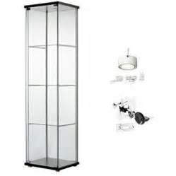 Ikea Detolf Glass Display Cabinet Light ikea detolf glass curio display cabinet black lockable light and lock included walmart
