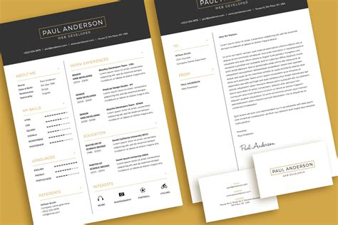 Resume With Cover Letter by Free Minimal Resume Cv Design Template With Cover Letter