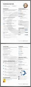 yahoo resume template what marissa mayer s resume looks like infographic