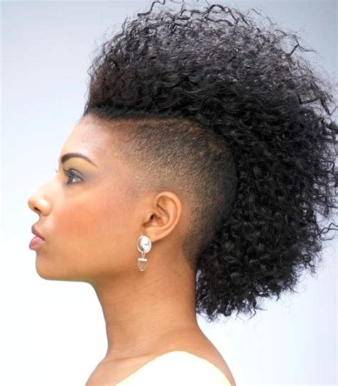 mohawk with shaved hairstyle for black women mohawk hairstyles for black women 10 best mohawk