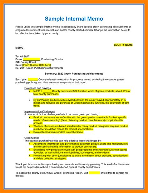 Memo Template Definition 7 Memo Template Resume Sections