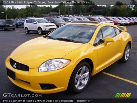 mitsubishi eclipse yellow solar satin yellow 2009 mitsubishi eclipse gs coupe