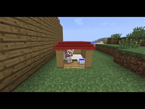 how to make a dog house in minecraft minecraft dog house tutorial youtube