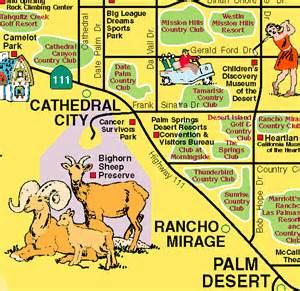 palm springs desert resorts visitor s map
