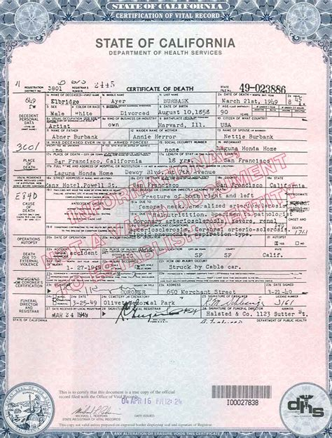 California Vital Records Birth Certificate Application Fetal Certificate Yun56 Co