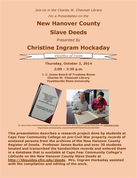 New Hanover Property Tax Records Christine Ingram Presentation On New Hanover County