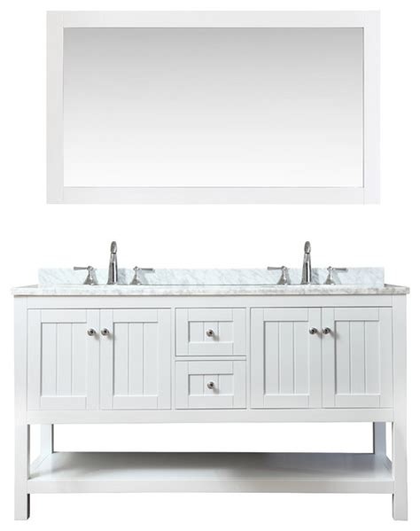 cottage style bathroom mirrors emily cottage style bathroom vanity and mirror white 60 quot farmhouse bathroom