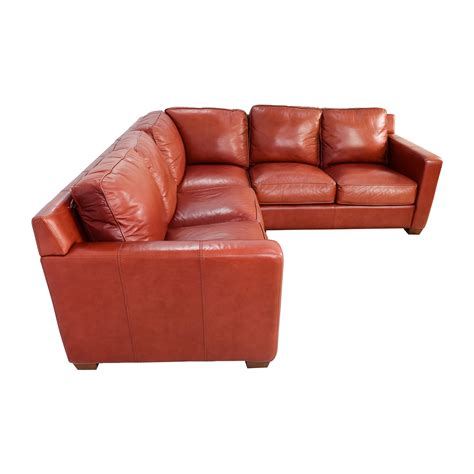 thomasville leather sectionals 68 off thomasville thomasville red leather sectional