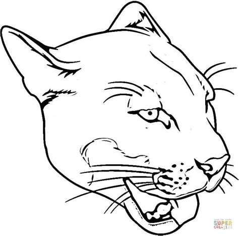 Click The Face Of Puma Coloring Page To View Printable Version Or  sketch template
