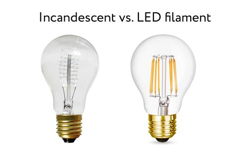 incandescent light bulb led light bulbs vs incandescent and fluorescent led vs