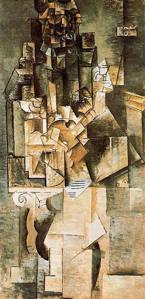 pablo picasso paintings guitar with a guitar 1911 pablo picasso wikiart org