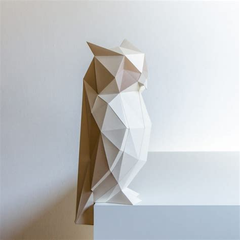 Folded Paper Design - papercraft animal ls vuing