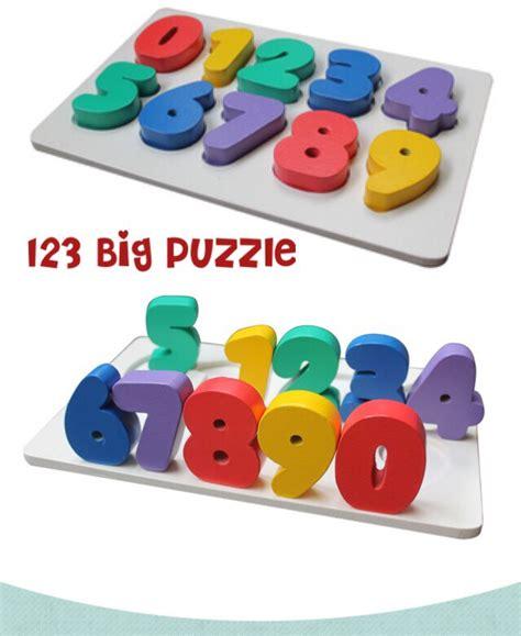 Mainan Edukatif Puzzle Edukasi Kereta Angka jual mainan edukatif edukasi anak puzzle balok kayu chunky angka huruf toko dnd