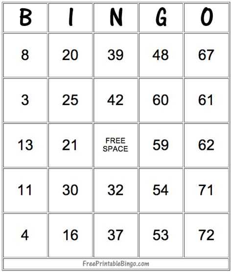 Bingo Card Template With Numbers by Bingo Cards Create No Deposit Bonus Codes Www