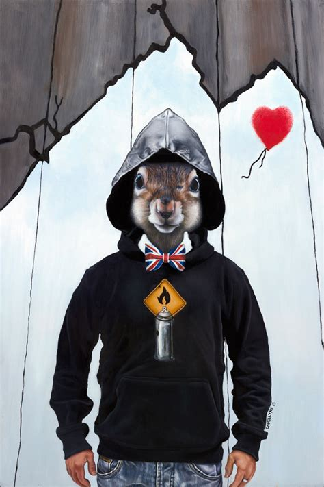 Novel Contemporary Banks Away Tersembunyi banksy is a secret squirrel banksy artist pop