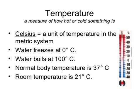 what is the room temperature in fahrenheit metric temperature ppt