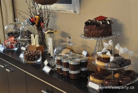 life s sweeter with chocolate dining room buffet table chocolate party chocolate dessert table life is a party