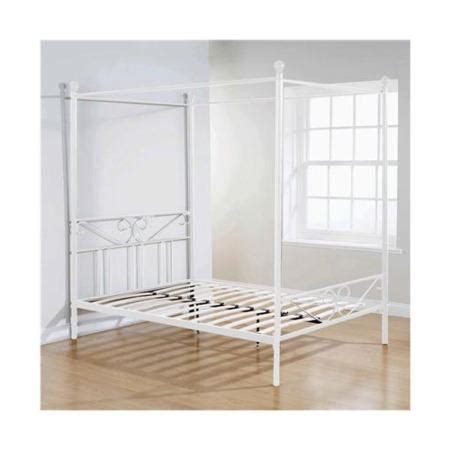 Single Four Poster Bed Frame Mountrose Brunswick Single Four Poster Bed Frame In Black Furniture123