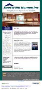 constant contact newsletter design spectrum home