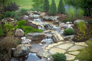 backyard waterfalls aquascape your landscape the sound of waterfalls