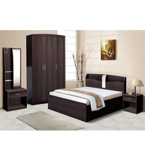 Bed And Wardrobe Set Nilkamal Imperial Wenge Bedroom Combo Set 3 Door Wardrobe Dressing Table Size Bed Bedside