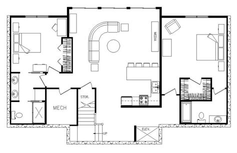 rectangular house plans modern simple one story open floor plan rectangular google search