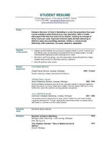 Objective For A Resume by Cv Objective Statement Exle Resumecvexle