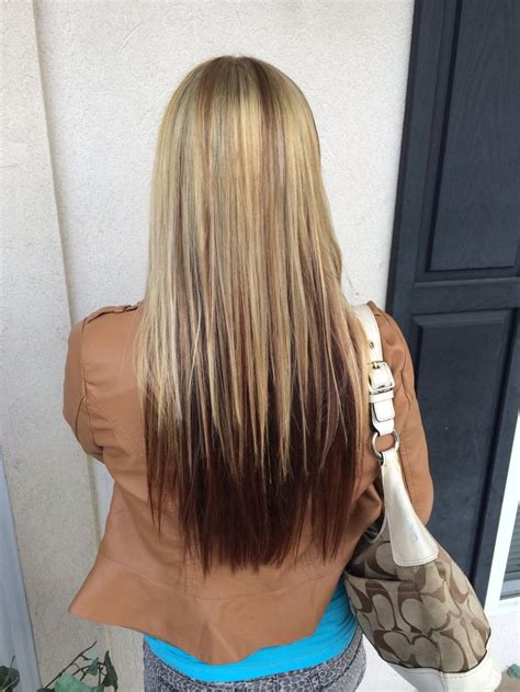 how to do blonde on top and brown underneath blonde top half with level 6 neutral brown lowlights and
