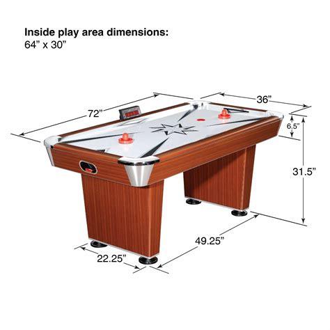 wood air hockey table amazon com hathaway midtown 6 air hockey family
