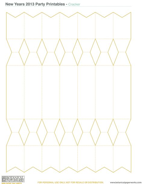 cracker template printable free printable new year s kit botanical