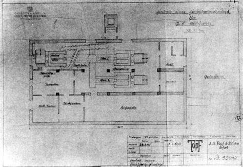 crematorium floor plan this blueprint which survived the war is for crematorium
