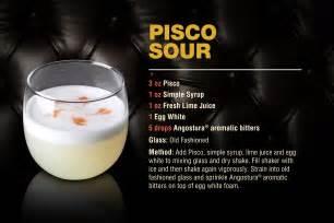 cocktail pisco sour angostura