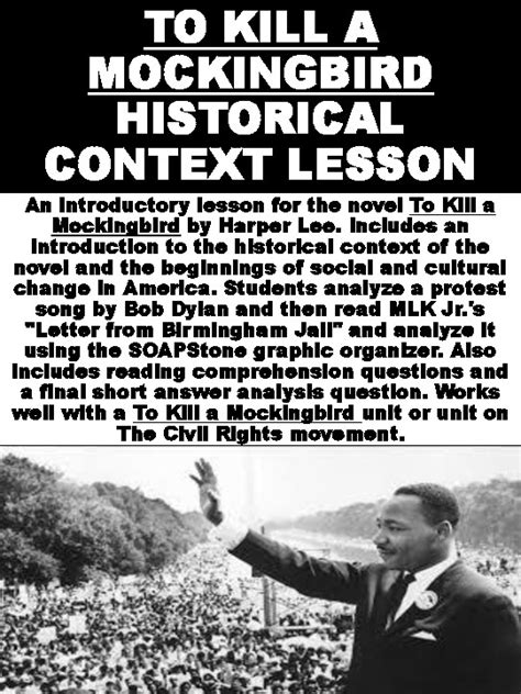 To Kill a Mockingbird Historical Context Lesson by Mz S