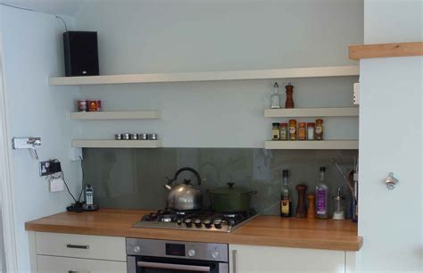 Kitchen Shelves And Cupboards Floating Shelf Contemporary Design Kitchen Handmade By
