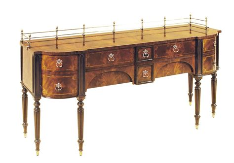 Antique Dining Room Buffet Mahogany Dining Room Sideboard Brass Accents
