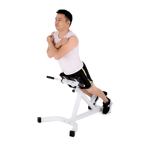 tomshoo adjustable hyperextension chair abdominal back extension exercise ab bench home