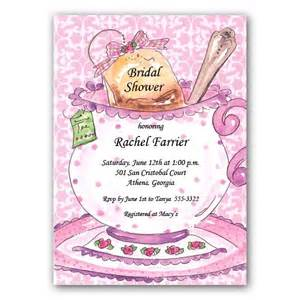 pink tea cup bridal shower invitations paperstyle