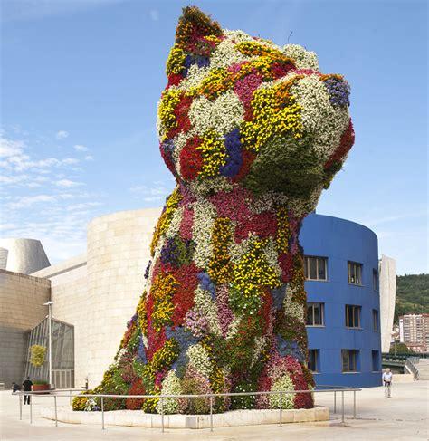 jeff koons flower puppy puppy museo guggenheim bilbao