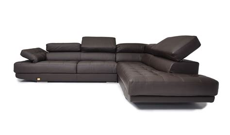 full grain leather sectional sofa dima principe made in italy espresso full top grain