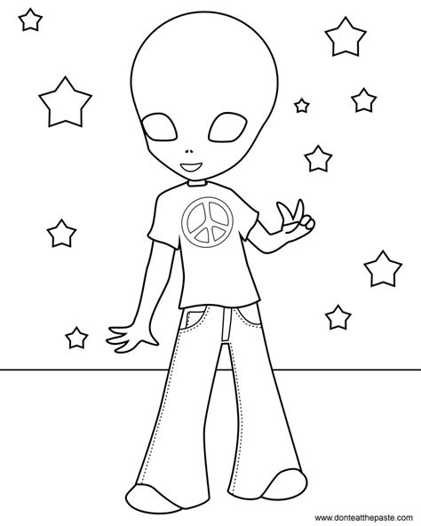 hippie coloring pages don t eat the paste hippie coloring page