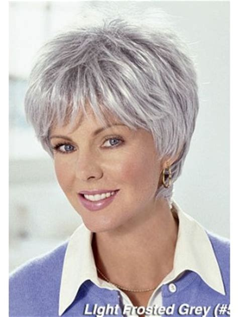 hairstyles for grey hair uk fashion short grey hair wig for women uk gray women wigs p4