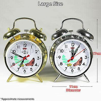 wind  twin bell alarm clock mechanical clocks loud wind