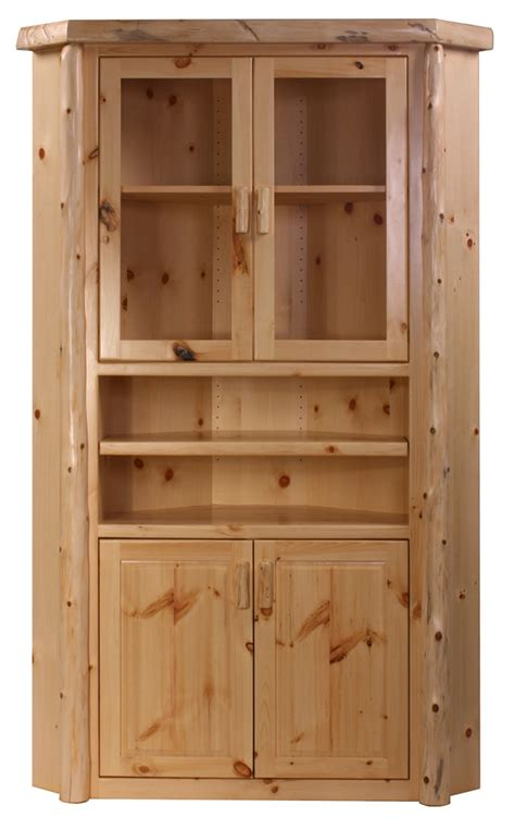 Corner Cabinate by Rustic Pine Log Corner Cabinet Log Cabinets The Log