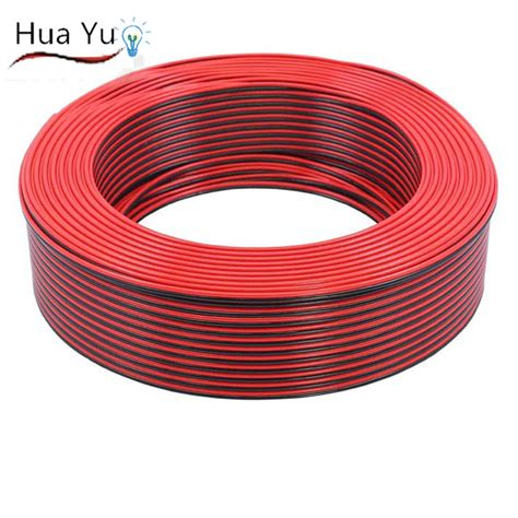 copper 16awg 2 pin black cable pvc insulated wire