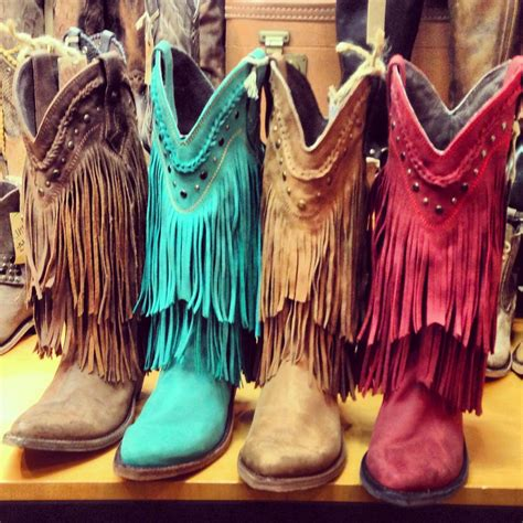 liberty black fringe cowboy boots from southernjewlz