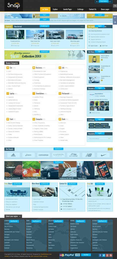 joomla classifieds template sj snap responsive joomla template