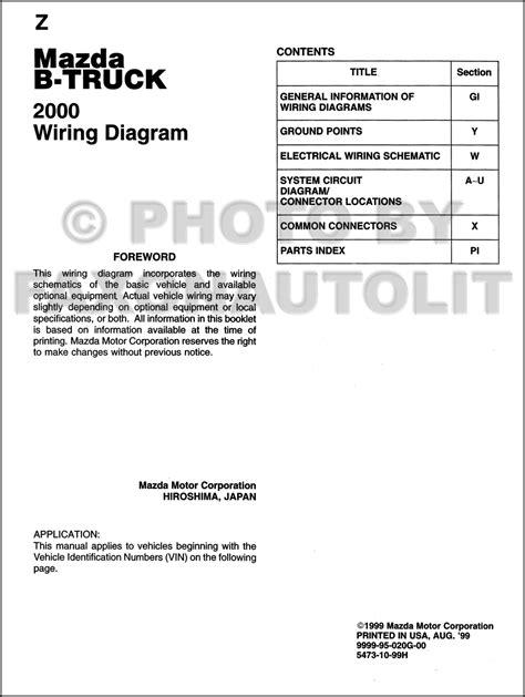 free auto repair manuals 2000 mazda b series spare parts catalogs 2000 mazda b series pickup truck wiring diagram manual original b2500 b3000 b4000