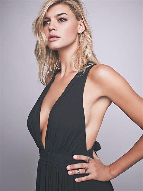 Athea Maxi free athea draped crossover maxi dress in black lyst